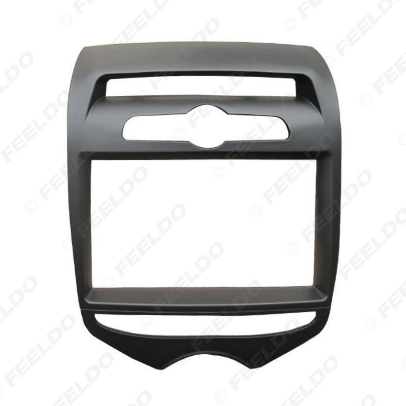Picture of 2Din Car Radio Panel Plate Fascia Frame For Hyundai IX20 (Manual AC) 2012 Stereo Refitting Dash Frame Trim Kit