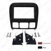 Picture of Car 2Din Stereo Radio Fascia Frame for BENZ S-Class W220 Dashboard Mount Trim Facia Panel Installation Kit 2-Color