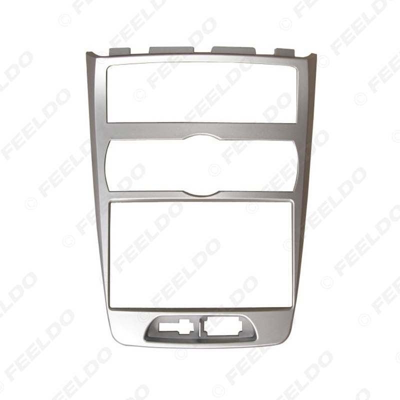 Picture of Car 2Din Radio Fascia Frame for Hyundai Rohens (UK Type/Auto AC/RHD) Dash Panel Frame Mount Kit