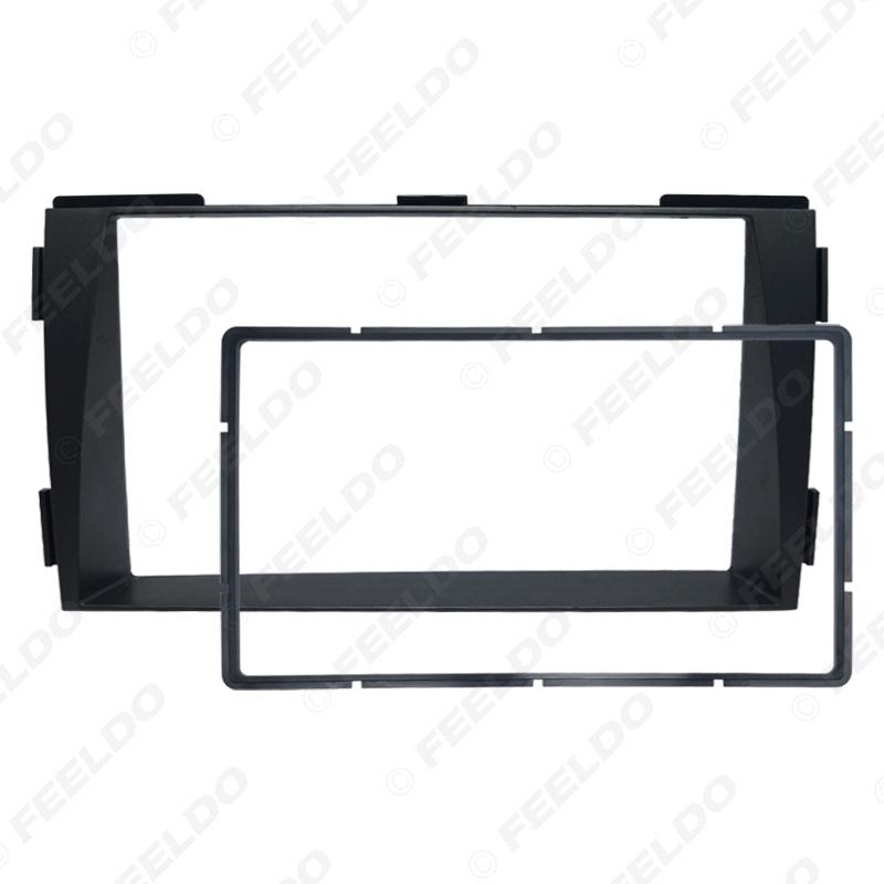 Picture of Car 2Din Radio Fascia Frame for Hyundai Sonata NFC 2009-2010 Stereo Face Panel Dash Installation Trim Kit