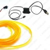 Picture of 9-color 12V USB Power Inverter 5M Car Flexible Moulding EL Neon Glow Lighting Rope Strip With Fin
