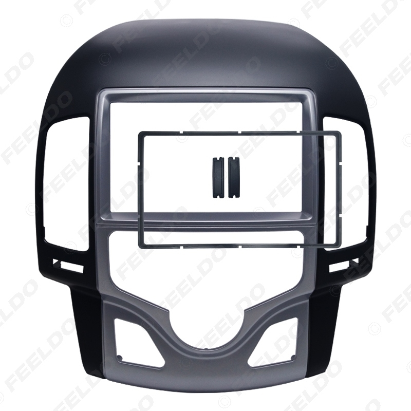 Picture of Car 2Din DVD Radio Stereo Fascia Frame for Hyundai I-30 2009 Auto AC LHD Korean Face Panel Dash Trim Kit