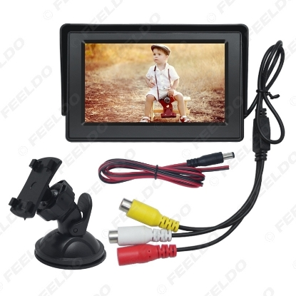 Picture of 4.3inch Digital Display Windshield LCD Car Monitor For Reversing Backup Camera DVD VCR #4590