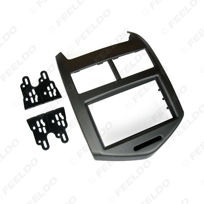 Picture of Car Refitting 2Din Stereo Radio Fascia Frame For Aveo Sonic Holden Barina 2011+ Dash Fitting Panel Frame Mount Trim Kit