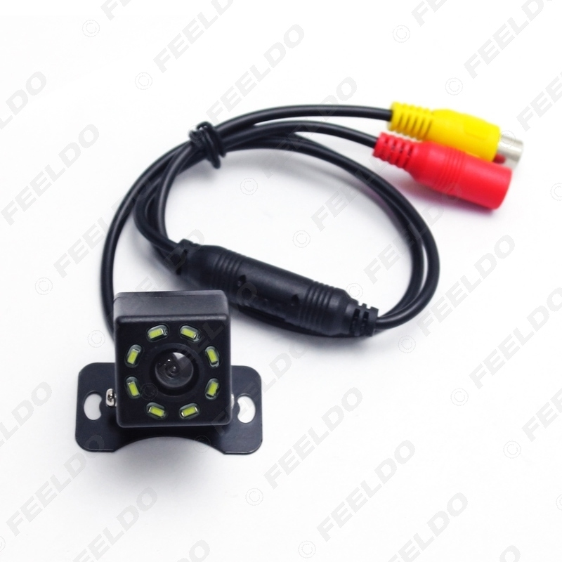 Picture of DC12V Universal Car Rear View Camera With 8-LED Light Auto Reversing Backup Camera