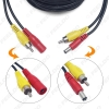 Picture of 20 Meters 65FT Car 2 in 1 RCA Video & DC Power Cable Video AV Vehicle Extension Cable for Backup Reversing Camera