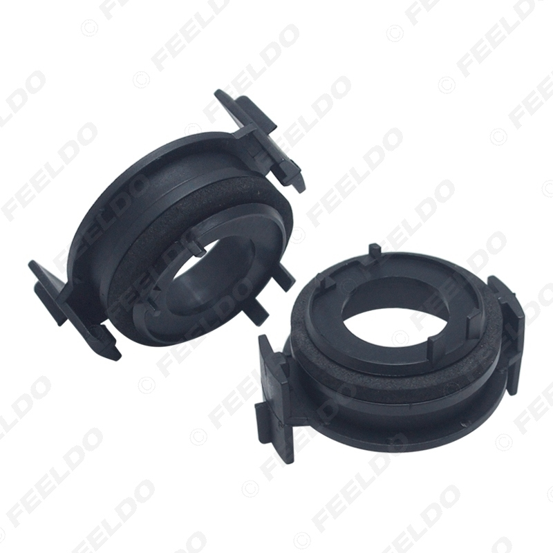 Picture of 2x H7 LED Headlamp Bulb Base Holders Adapter For BMW E46 3 Series LED Headlight Clip Retainer Scokect Adapter
