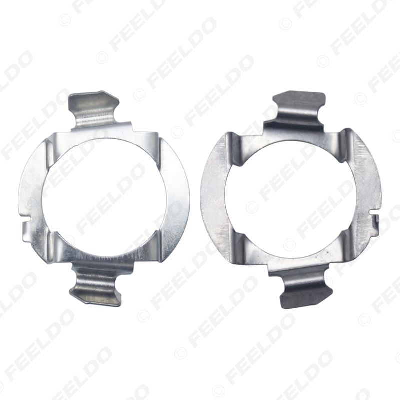 Picture of 2x H7 LED Headlight Lamp Retainers Metal Clip Holder For Audi A3 A4L A6L Q3 Q5 Q7 Sline Buick LED Bulb Base Adapter