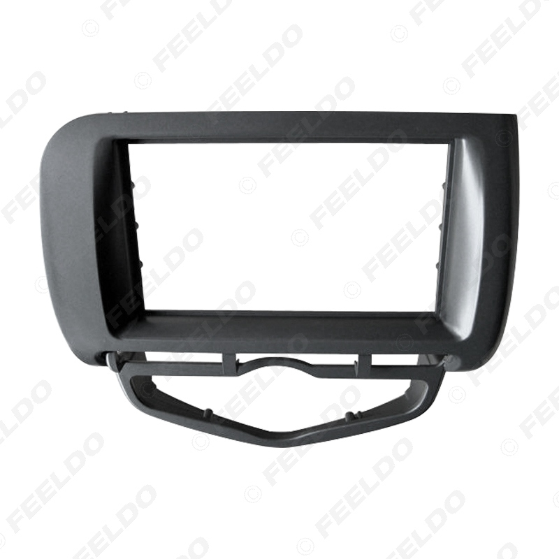 Picture of Car Audio Radio Fascia Frame For Honda Fit Jazz/City 2002-2008 (Auto AC,LHD) Stereo DVD 2Din Dash Face Frame Installation Mount Kit