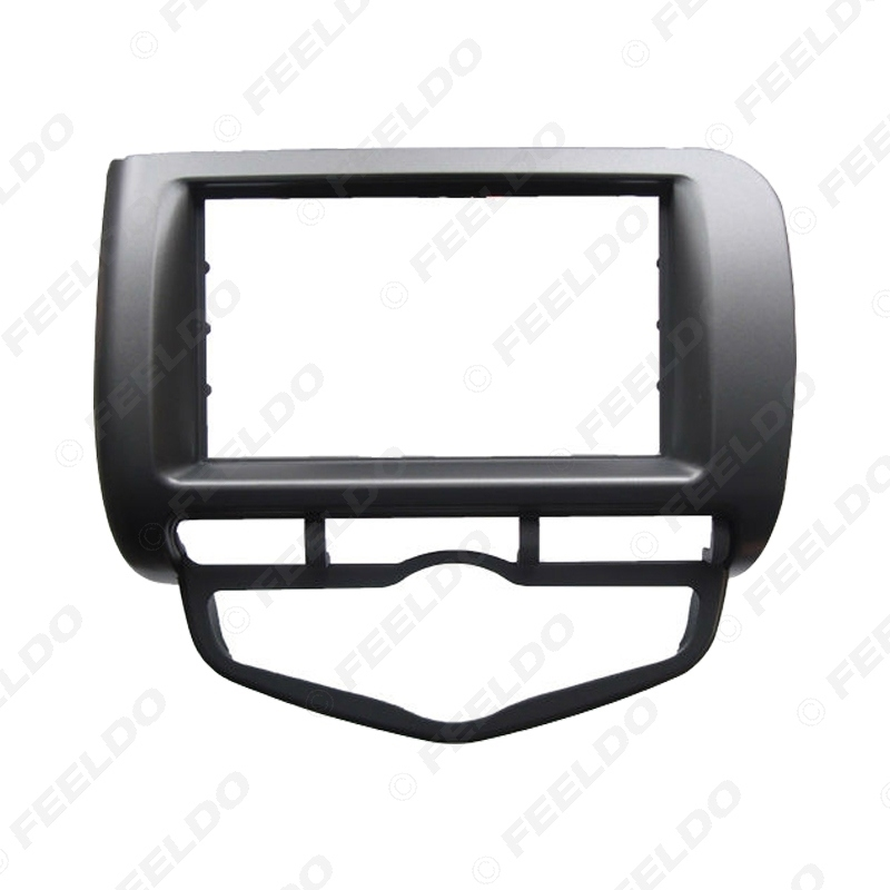Picture of Car Radio Fascia Frame For Honda Fit Jazz 2002-2008 (Auto AC,RHD) Stereo DVD 2Din Dash Mount Installation Face Frame Kit