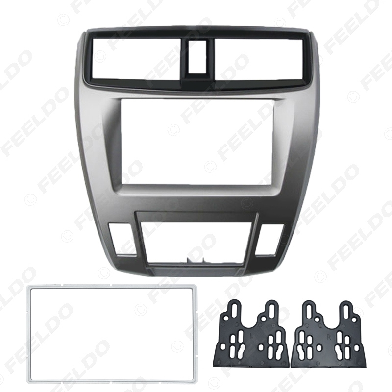 Picture of Car 2DIN Audio Radio In-dash Fascia Frame For HONDA City Ballade Stereo Dash Panel Plate Frame Installation Kit