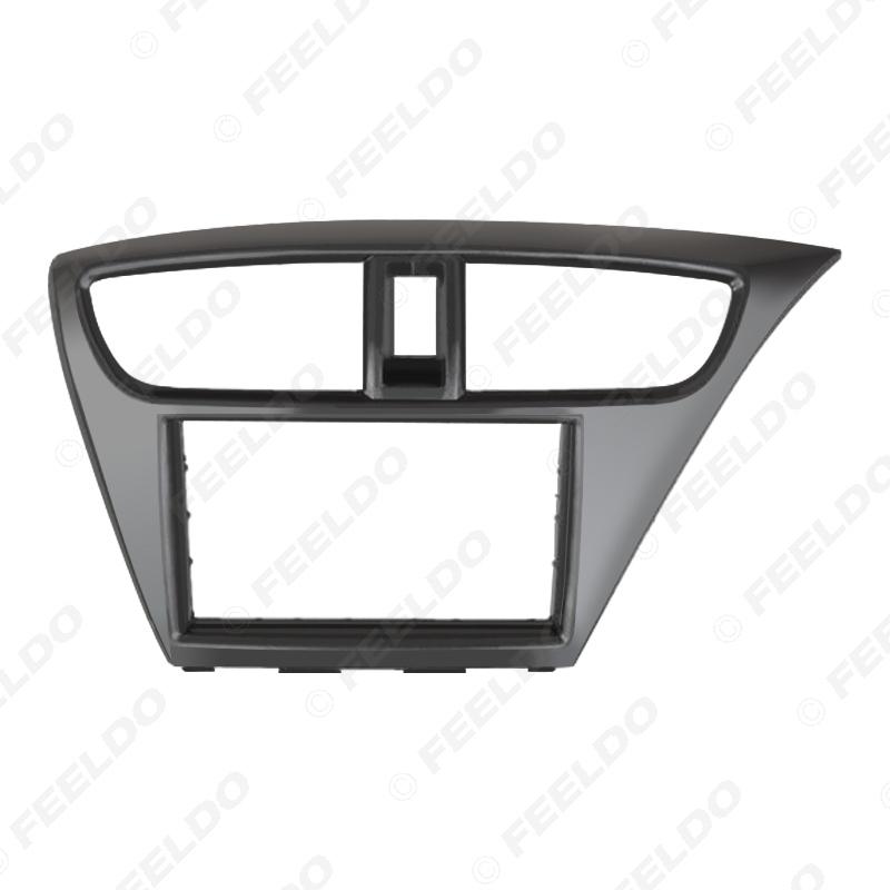 Picture of 2Din Car Radio Frame Fascia for Honda Civic (European,RHD) CD DVD Stereo Panel Dash Mount Installation Trim Kit
