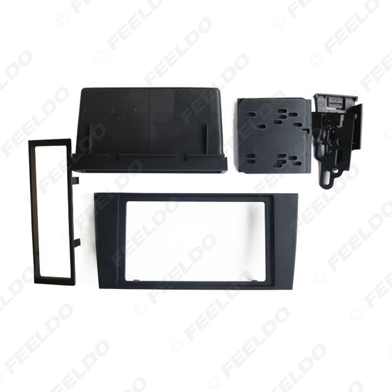Picture of 2Din Car Stero CD/DVD Radio Frame Fascia for Audi A4 2000-2004 Dash Panel Face Plate Bezel Trim Mount Kit