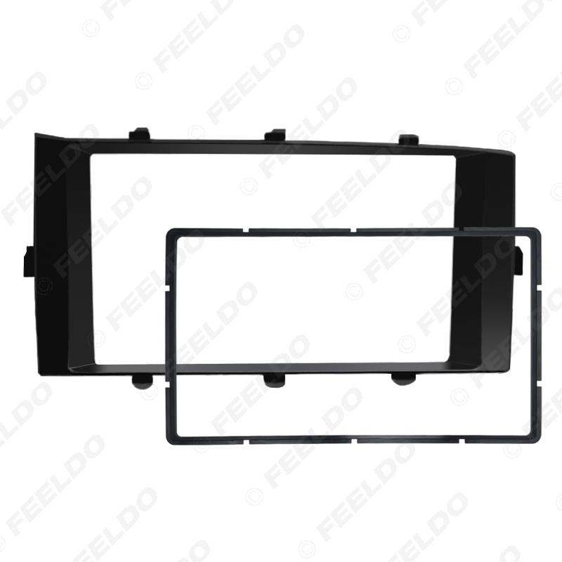 Picture of Car Stereo Radio Frame Fascia for Toyota Aqua RHD 2012-2014 2Din DVD Dash Panel Bezel Trim Face Plate Kit