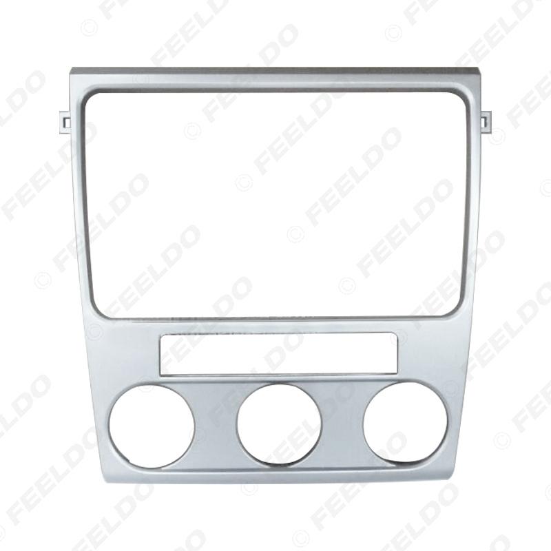 Picture of Silver Car Stereo Radio 2Din Fascia Frame for Volkswagen Lavida 2010-2012 Audio DVD Frame Face Plate Trim Bezel Kit