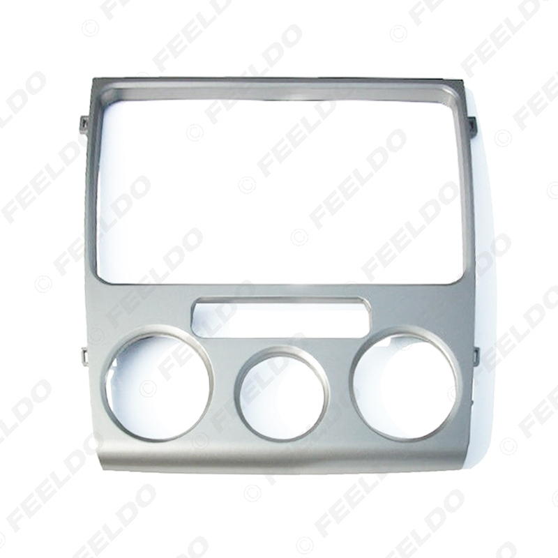 Picture of Silver Car 2DIN Dash Radio Stereo Fascia Frame For Volkswagen Lavida 2010-2012 Dash Panel Frame Installation Refitting Kit