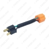 Picture of Car H4 Male To Femal Ceramic Socket Ceramic Wiring Harness Connector For Headlight Bulb Socket Adapter Holder