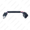 Picture of Car Headlight Cable H4 Male To Female Connector Plug Lamp Bulb Socket Automotive Wiring Adapter Holder