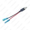 Picture of Car H1 LED HID Xenon Headlight Lamp Bulb Adapter Converter Cable Replacement Halogen Bulb Wiring Harness