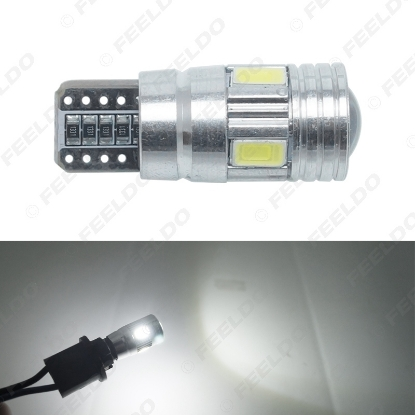 Picture of DC12V~14.5V 6000~6500K White 6SMD 5630 T10 Wedge Lens LED Light Bulb With CANbus/Electrodeless/Constant Current