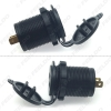Picture of Car Dual USB Charger Power Socket Adapter With 5-Color LED Light 5V 3.1A for Motorcycle Auto Truck Boat Cigarette Lighter