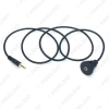 Picture of Car Motorcycle Boat 1 Meter AUX Mount Cable 3.5mm Male to Female Aux Extention Flush Dash Panel Mount Adapter Cable