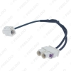 Picture of Car 1-Way Female To 2-Way Male FAKRA2-B Radio Antenna Terminals With Amplifier For Volkswagen/Skoda/Audi OEM Head Unit #3662