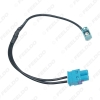 Picture of Car 1-Way Female To 2-Way Male FAKRA2-Z Radio Antenna Terminals With Amplifier For Volkswagen/Skoda/Audi OEM Head Unit #5791