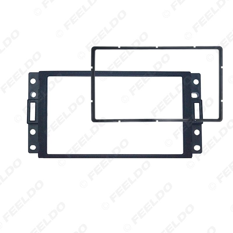 Picture of Car Refitting CD DVD Radio Fascia Frame for HUMMER H3 2DIN Stereo Dash Face Plate Frame Panel Mount Kit