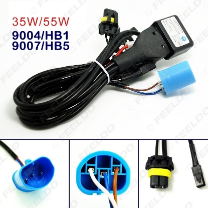 Picture of 12V 35W 9004/HB1/9007/HB5 Hi/Lo Beam Bi-xenon Relay Harness For HID Conversion Kit