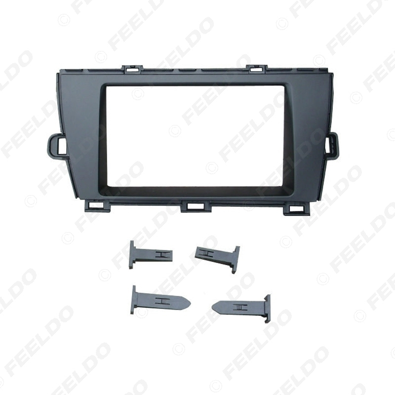Picture of Car 2Din Stereo Dash Refitting Fascia Frame Adapter For Toyota Prius (LHD) 2009+ Radio Plate Frame Trim Kit