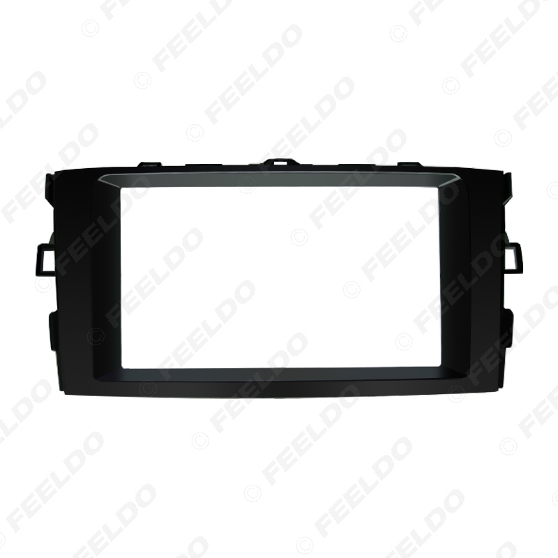 Picture of Car Fascia Frame Adapter for TOYOTA Auris 2006-2012 Stereo 2DIN Plate Panel Frame Dashboard Refitting Trim