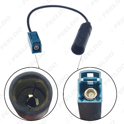 Picture of Car Aftermarke Radion Antenna Wire Harness Plug For Volkswagen Male to Motorola Female Adapter