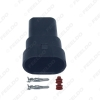 Picture of Waterproof Auto HID Headlight Bulb Socket Connector For 9006/HB4 LED/HID Light 2Pin Way Plugs