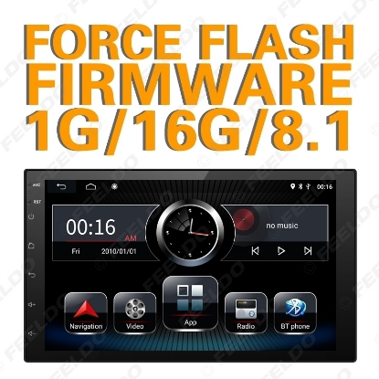 Picture of Ultra Slim 7inch Android 8.1 Quad Core Car Stereo With Navi/radio/RDS/Bluetooth/WIFI/MirrorLink/SWC  For ISO 2DIN Universal Support Force Update Firmware