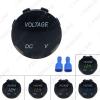 Picture of Waterproof 3-Color LED Digital Display Voltmeter Socket For Auto Motorcycle Car Round Panel Voltage Meter Gauge Tester