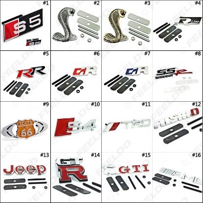 Picture of Car Decoration Grill 3D Badge Emblem Logos Mix