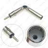 Picture of Car Auto Radio AM/FM Stereo Iso Male Plug To Din Aerial Antenna Mast Adapter Square Bend Radio Connector