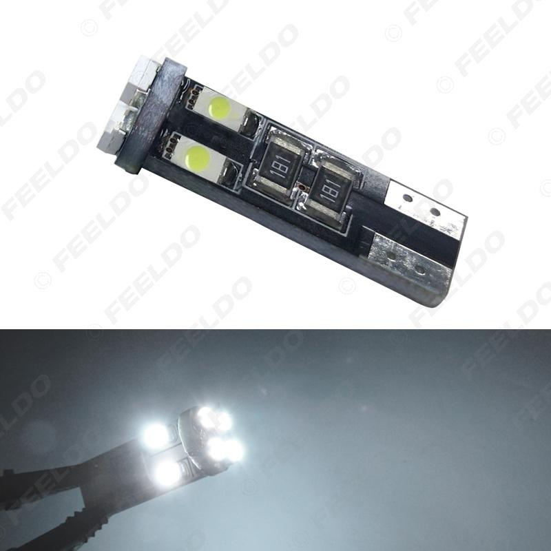 Picture of 1PC Car DC12V~14.5V 6000~6500K White 8SMD 3528 T10 Wedge Lens LED Light Bulb With CANbus Error free Light