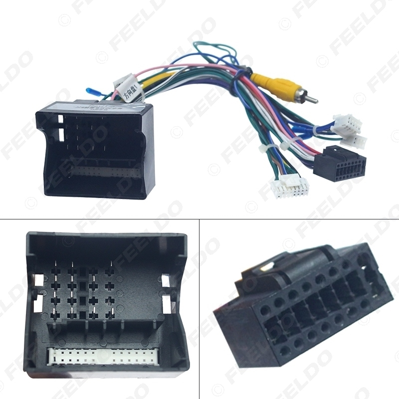 Picture of 16-pin Car Android Stereo Wiring Harness For Peugeot 3008/2008/Citroen C4/C-Quatre/C4L/C3 XR/C5/DS6