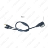 Picture of Car AMI/MDI Interface To 3.5mm Male Audio AUX + Lightning Jack Charge Only Adapter Cable For Mercedes Benz