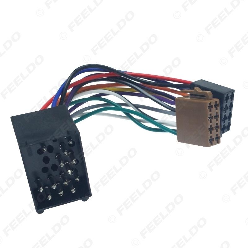 Picture of Car Radio Female ISO Adapter Wring Harness Cable For BMW E31/E32/E34/E36/E38/E39/E46/Z3/Mini