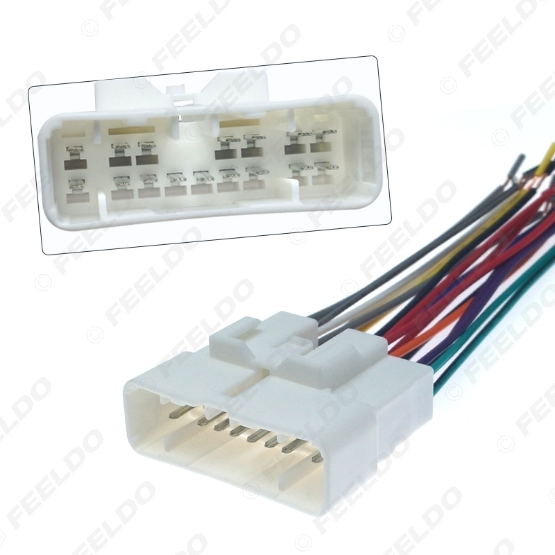 Picture of Car Stereo Radio Wiring Harness Wire Tail Line Plugs for Isuzu D-MAX Car CD/DVD Player Installation Adaptor