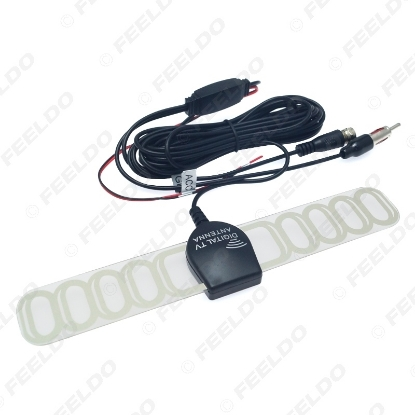 Picture of Car TV Digital DVB-T 2in1 FM/Radio Antenna Amp Booster F connector