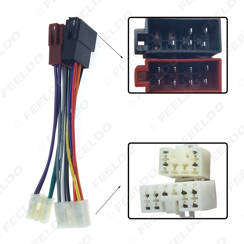Picture of Car Stereo Conversion Plug Wiring Harness Adapter For Toyota Lexus Daihatsu To ISO CD Radio Original Head Units Cable