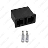 Picture of Car Auto Motorcycle H7-11 H7-21 HID LED Bulb DIY Quick Male/Female Connector Plug with Terminals Adapter