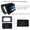 """Picture of Car 2Din Stereo Fascia Frame Adapter for Suzuki Qiyue 15-16 9"""" Big Screen CD/DVD Player Dash Mount Plate Kit"""