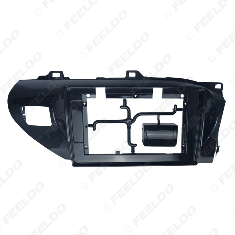 """Picture of 2Din Car Radio 10.1"""" Fascia Frame for Toyota Hilux 2018 CD/DVD player Stereo Audio Panel Dash Trim Bezel Kit"""