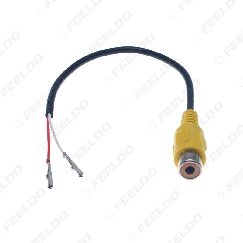 Picture of RCA Female Connector With Wire Crimp 2-Pin Terminal For DIY Installation