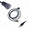 Picture of Car Radio Audio 3.5mm Male AUX-IN Adapter Cable for Volkswagen Lavida Skoda Octavia MP3 12-Pin Port AUX Wire